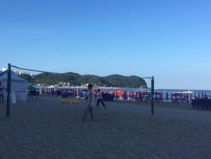 Bukbu Beach Volleyball and Mountains
